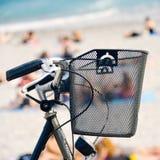 Bicycle в набережной славного, Франции Стоковые Изображения RF