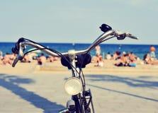 Bicycle в пляже, с влиянием фильтра Стоковое фото RF