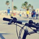 Bicycle в улице, с влиянием фильтра Стоковые Фото