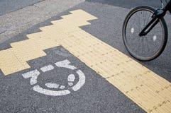 Bicycle ждать линия для персоны в токио Стоковое Изображение RF