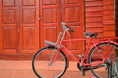 bicycle красный цвет Стоковые Изображения RF