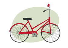 bicycle красный цвет Иллюстрация вектора