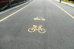 Bicycle объектив, майна велосипеда, знак велосипеда или значок и движение Стоковая Фотография RF