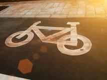 Bicycle дорожный знак Стоковое фото RF