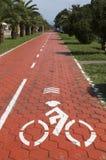 Bicycle путь на бульваре Батуми, Georgia Стоковое Изображение RF