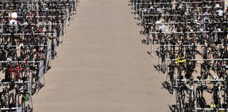 Bicycle стоянка автомобилей Стоковое фото RF