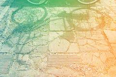 Bicycle тень, запас фото объекта образа жизни битника Стоковые Фотографии RF