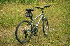 Bicycle. A bicycle on a trail Royalty Free Stock Photos
