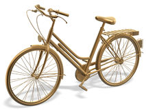 Bicycle. 3d golden bicycle of winner Royalty Free Stock Photography
