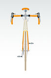 Bicycle. Modern cool sport bicycle front view Royalty Free Stock Photos