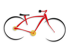 Bicycle. Simple illustration of abstract bicycle Royalty Free Stock Photography
