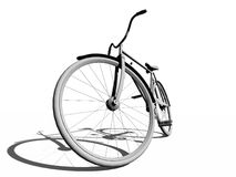 Bicycle. The blank bicycle over the white Royalty Free Stock Photos