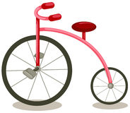 Bicycle. Illustration of isolated cartoon vintage bicycle on white background Royalty Free Stock Photos