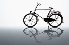 Bicycle. Male bicycle model - isolated on white Royalty Free Stock Images