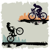 Bicycle. Rider silhouette  illustration Stock Image