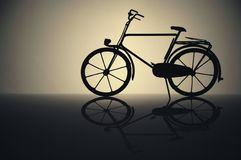 Bicycle. Male bicycle model with perfect reflexion Stock Photo