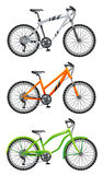 Bicycle. Bike on a white background stock illustration