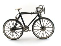 Bicycle. A small model of a black road bicycle Royalty Free Stock Photos