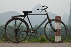 Bicycle. In mountain Yangshuo area, China royalty free stock photos