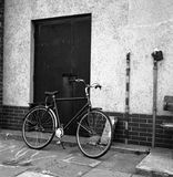 Bicycle. In Gdansk, Poland. Photo was taken by camera Flexaret VI Automat, Fomapan 100/120 classic grainy film and scanned Royalty Free Stock Photography