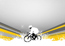 Bicycle. Abstract grunge speed bicycle sport background with space royalty free illustration