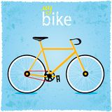 Bicycle. Vector illustration background in grunge style bike Stock Image