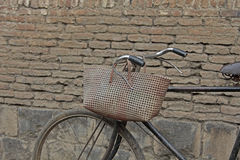 Bicycle. With wire basket, concept Stock Photo