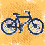 Bicycle. Abstract decorative textured bicycle print design. Vector stock illustration