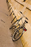 Bicycle. A bicycle leaning against a wall in France Royalty Free Stock Images