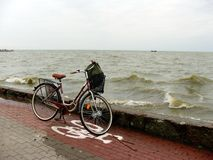 Bicycle. Lonely bicycle by the sea Stock Photos
