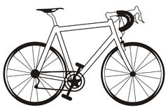 Bicycle. Art illustration in black and white: bicycle royalty free illustration