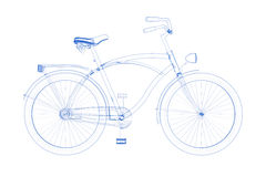 Bicycle (3D xray blueon white) Stock Photography