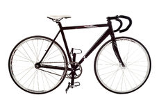 Bicycle #4. Road black sport bicycle isolated Royalty Free Stock Image