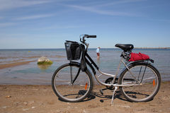Bicycle. Pleasant bicycle walk along The Baltic Sea Stock Photography