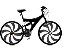 Bicycle. On isolated background with abstract background Royalty Free Stock Photography