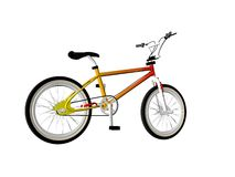 Bicycle. Old style Illustrated bicycle isolated over white royalty free illustration