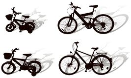 Bicycle. Vector bicycle on white background Royalty Free Stock Images