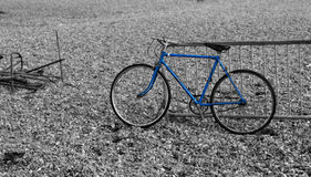 Bicycle. Photo of a blue bicycle stock photo