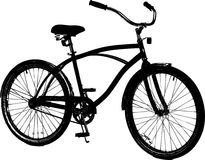 Bicycle. A vector black retro bicycle Royalty Free Stock Images