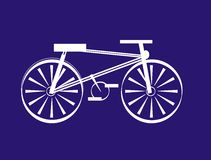 Bicycle. Funny bicycle royalty free illustration