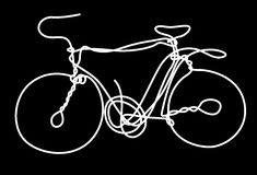 Bicycle. Abstract picture of white bicycle Stock Images