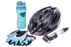 Bicycle accessories. Stock Photography