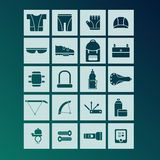 Bicycle accessories icons Stock Image