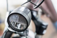 Bicycle accessories in a larger size. Bicycle for tourist and tr. Ekking. Light background stock photos