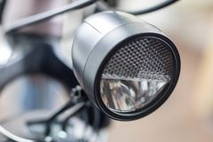Bicycle accessories in a larger size. Bicycle for tourist and tr. Ekking. Light background stock photography