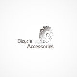 Bicycle Accessories logo. Royalty Free Stock Image