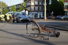 Bicycle accident Royalty Free Stock Photography