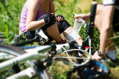 Bicycle accident Royalty Free Stock Images