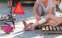 Bicycle accident Royalty Free Stock Image