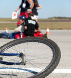 Bicycle accident Stock Photography